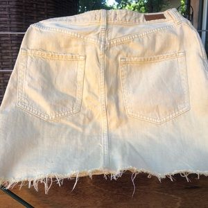 Abercrombie & Fitch Skirts - Yellow jean skirt